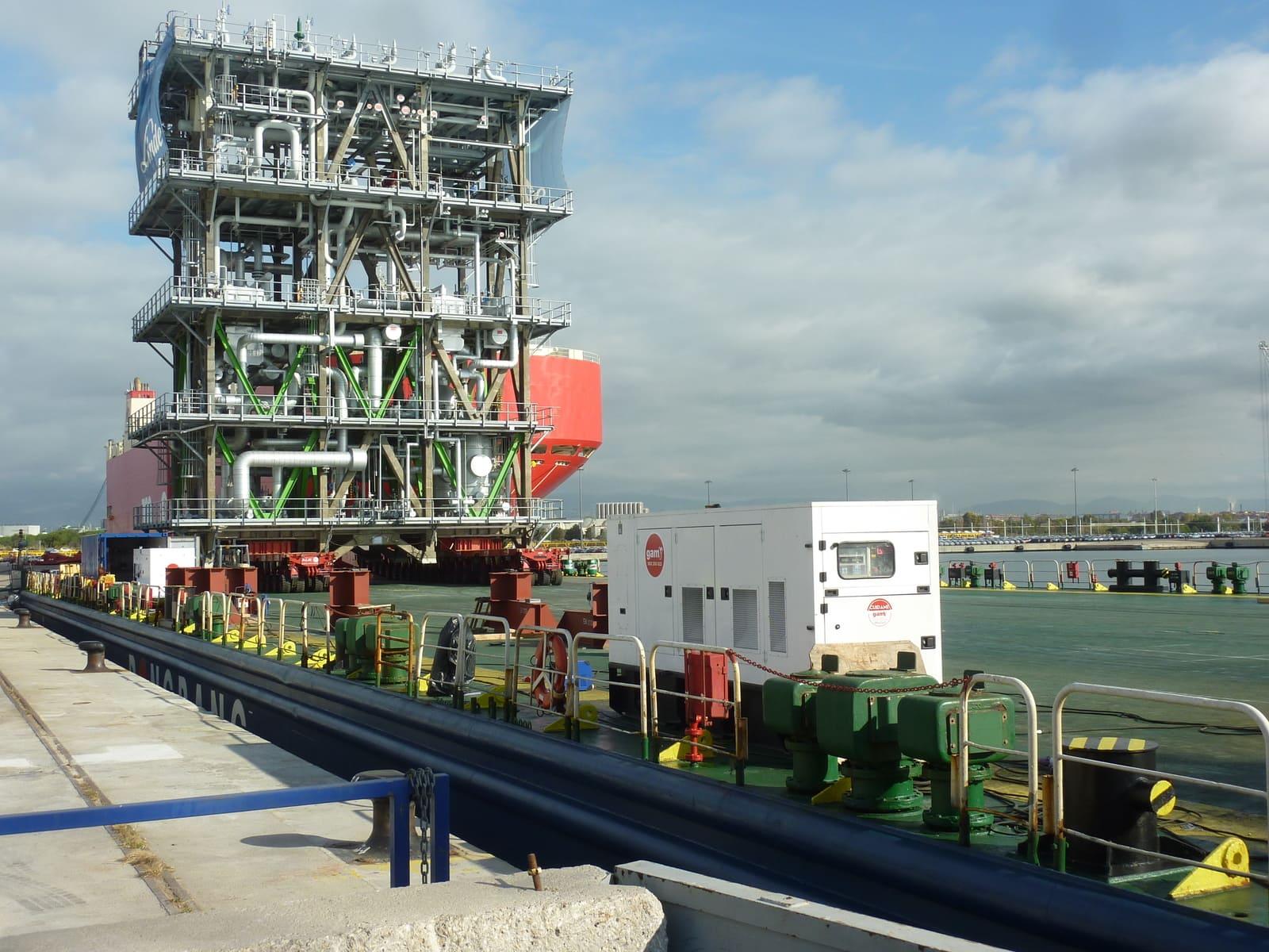 Modulbauweise im Hafen